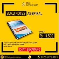 [CUSTOM] Buku Catatan Notebook Blocknote A5 Spiral - Min Order 100 PCS