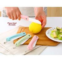 Pisau dapur lipat unik bahan keramik pisau buah kecil knife