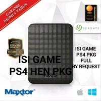 HDD 1TB MAXTOR SEAGATE BONUS ISI FULL GAME PKG PS4 HEN hobi koleksi