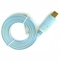 Prolific Kabel Konsol USB RS232 to RJ45 Console Cable for Cisco Huawei