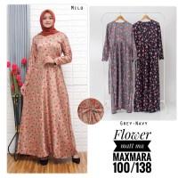 baju Gamis wanita terbaru flower maxmara