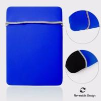 Tas Laptop Softcase 11-12inch Riversibel Elastis Neoprene - Biru