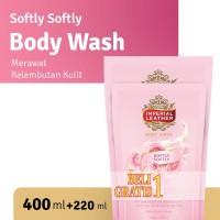 Imperial Leather Body Wash Softly Softly 400ml + FREE 220ml