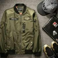 Yang Baru Jaket Bomber Pria List Yellow - Navy Kualitas Baik