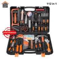Toolset Lengkap 112 in 1 Toolkit Toolbox Repair Kit Home DIY 112pcs