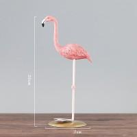 Cusai |pajangan hiasan meja pink flaminggo shabby cantik patung burung
