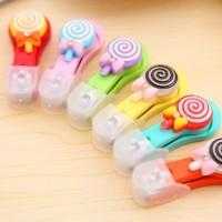 Gunting Kuku Lucu Mini Plastik Lolipop Bentuk Permen Unik Warna-Warni