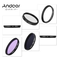 Andoer 49mm UV+CPL+FLD+ND(ND2 ND4 ND8) Photography Filter Kit