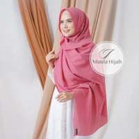 PASHMINA DIAMOND SABYAN 175 CM Pasmina Diamond Sabyan By Maula Hijab - Pink