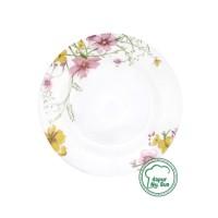 Piring Makan Keramik Motif AXIO FLOWER Ukuran 23cm /Piring Bunga 9Inch