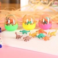 Penghapus Mini Berbentuk Dinosaurus dalam Kemasan Telur (1 Set Isi 8)