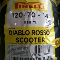 Ban Tubles Pirelli Type DIABLO ROSSO SCOOTER 120/70 R14 AEROX