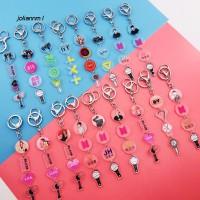 BTS BLACKPINK EXO Long Keychain Key Holder Hanging Photo Pendant