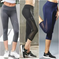 Celana legging transparan sport senam gym fitness olahraga wanita