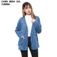 Monellina Fashion Cardigan XXL Jumbo Murah Wanita Kekinian SIera