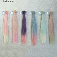 Wig Extension Rambut Panjang Lurus Warna Gradasi U Boneka Diy Bjd