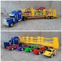 Mainan Set Truck Angkut Hauler - Trailer Muatan Mobil - Mainan Anak