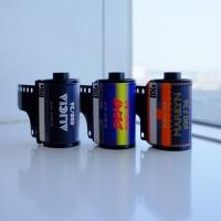 Paket Roll Film Kodak Vision 3; Marilyn 100, Demi 200, Alicia 400