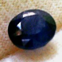 Batu Mulia Natural Dark Blue Sapphire Safir Asli Alam Bukan Sintetis.
