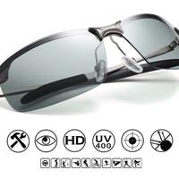Kacamata Sunglasses Fotosintetis Berubah Warna Unisex Pria Wanita