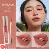 Lipstik lipmatte lipcream 3 in 1 Lumecolors velvet lip & cheek mousse - Peach Me