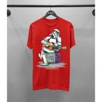 Terfavorit Tshirt Distro Tropper Gitar Combed 30S Atasan Kaos Pria Fas
