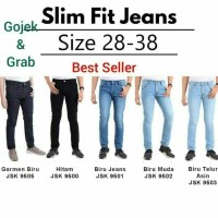 Celana Jeans Pria Skinny pensil stretch/Celana Levis Pensil murah - Hitam, 28