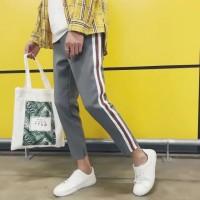 celana santai Side Stripe Casual Men s Slim Casual Pants Sweatpants