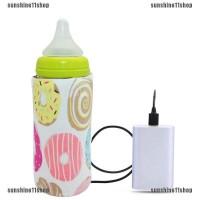 Sarung Penghangat Botol Susu Bayi Anak Portable dengan USB untuk Trave