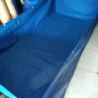 kolam terpal kotak PVC semi karet 2x1x0,5