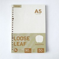 Bookpaper Loose Leaf (DOTTED) Kertas Binder/ Isi Notes - (A5) 50 lbr