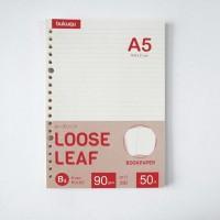 Bookpaper Loose Leaf (RULED)/ Kertas Binder/ Isi Notes - (A5) 50 lbr