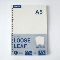 Bookpaper Loose Leaf (PLAIN) Kertas Binder/ Isi Notes - (A5) 50 lbr