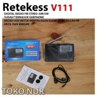 Retekess V111 Radio FM Stereo MW SW