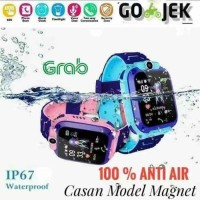 JAM TANGAN ANAK Q12 IMO SMART WATCH IP67 WATERPROOF GPS CAMERA - Biru