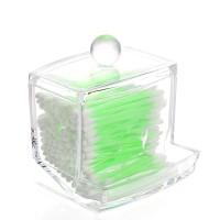 Rak Akrilik Tempat Penyimpanan Cotton Bud Dispenser Acrylic Organizer