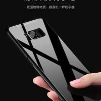 GLASS CASE SAMSUNG S8 S8 PLUS CASING HARDCASE ANTICRAK MIROR - HITAM