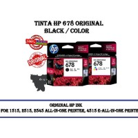 TINTA / CATRIDGE HP 678 BLACK / COLOR ORIGINAL 100% PERSET - Hitam