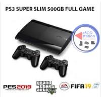 Ps3 Super Slim 500gb Full Paket 2stick Ready game termurah collection