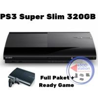 Ps3 Super Slim 320GB Full Paket 2stick sudah Ready Game aneka koleksi