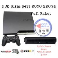 PS3 Slim Sony Seri 3000 OFW 250 GB Full Paket 2 stick Termurah collect