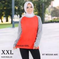 Baju Kaos T-Shirt Raglan Jumbo Lengan Panjang Murah Wanita/Cewek