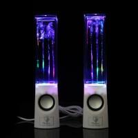 1Pasang Speaker Musik Air Mancur dgn Lampu LED utk iPhone iPad