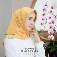 Segi Empat Satin Polos / Jilbab Segi 4 Velvet / Satin Square