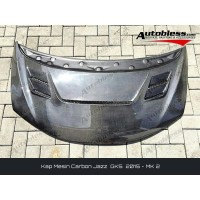 Kap Mesin Carbon Honda Jazz GK5 ( 2015+ ) - Model MK2