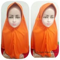 Jilbab Anak Kaos Sekolah Paud, TK, SD Serut Oranye