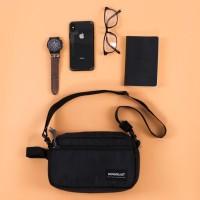 Geneva Black Wanderlust | Pouch Bag Handbag Clutch travel