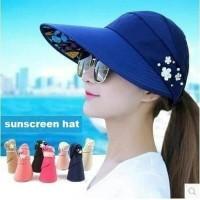 Topi pantai lipat / folding summer hat