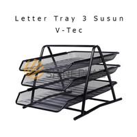 Rak Kertas - Document Tray 3 Susun V-Tec