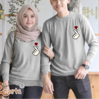 Sweater Couple Saranghae / Couple Saranghaeyo / Baju Pasanganan Korea